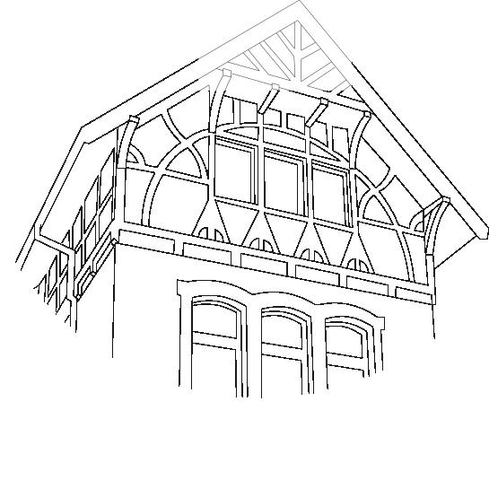 Villa am Park Zeichnung